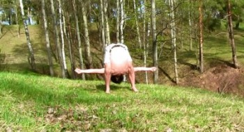 йога на природе