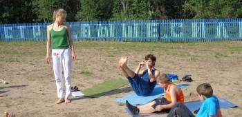 йога с детьми фото