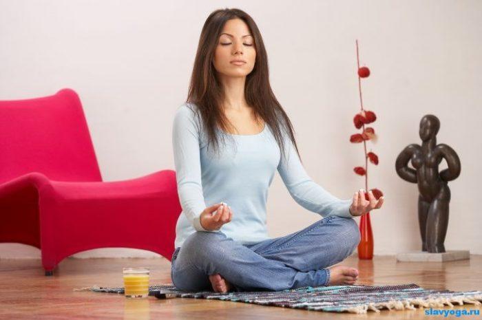 поза медитация