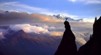 йога на скале