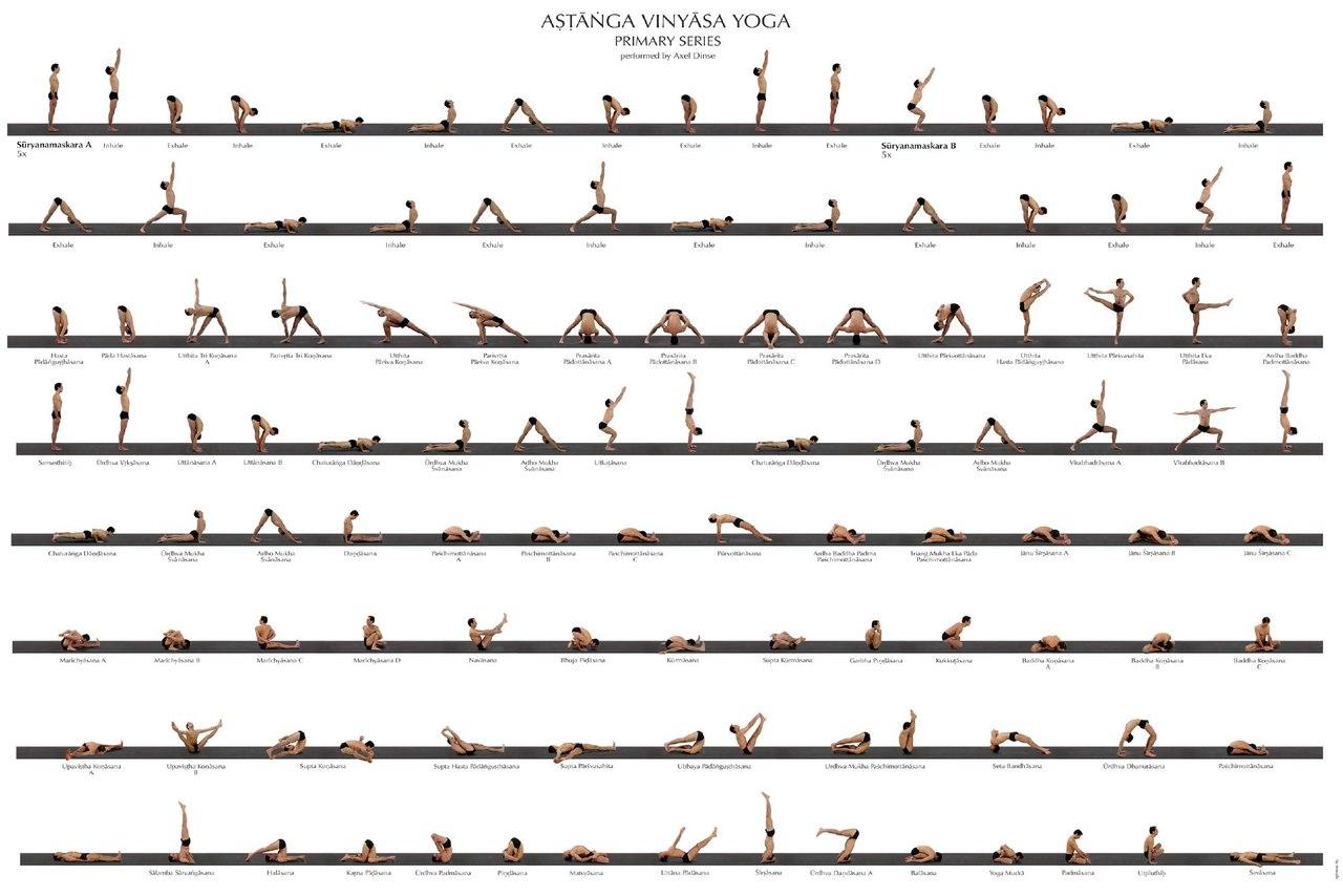 позы в йоге в картинках с названиями для начинающих