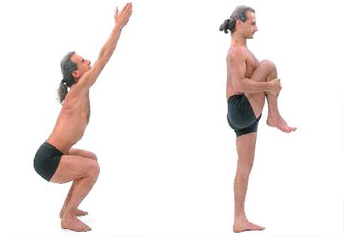 йога при болях в колене 1