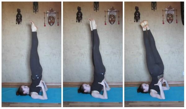 йога при ПМС сарвангасана