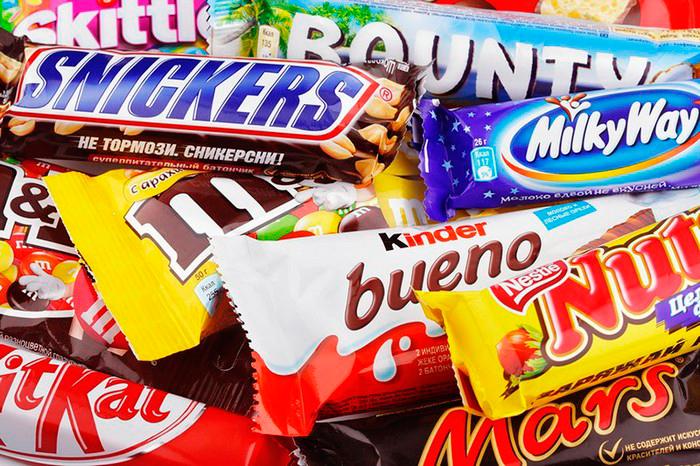 продукты убийцы шоколадные батончики