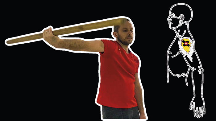 упражнения с палкой